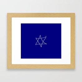 Star of David 20- Jerusalem -יְרוּשָׁלַיִם,israel,hebrew,judaism,jew,david,magen david Framed Art Print