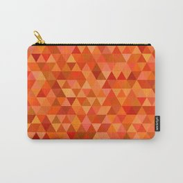 Hot orange triangles Carry-All Pouch