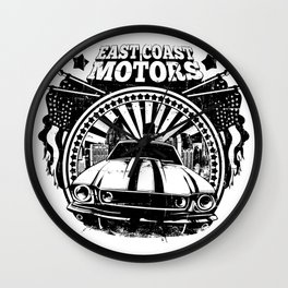 East Coast Motors Wall Clock