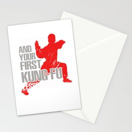 She Will Kick You In The Face - Funny Tae Kwon Do Stationery Cards