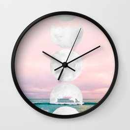 The Moon and the Tides Wall Clock