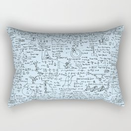 Physics Equations // Baby Blue Rectangular Pillow