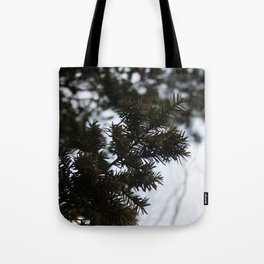 pine trees. Tote Bag