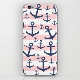 Anchor & stripe iPhone Skin