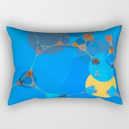 ariana - bright abstract design of orange blue yellow and aquamarine Rectangular Pillow