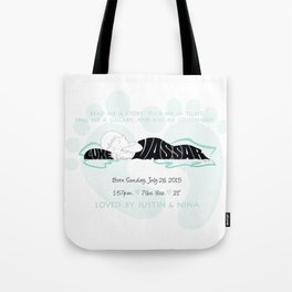 New Baby Boy Gift Name Silhouette Tote Bag