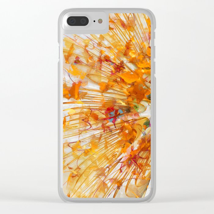 Autumn Leaf Fall Clear iPhone Case