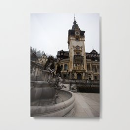 Peles castle, Romania, Brasov, fountain details Metal Print