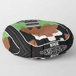 Rugby Black - Ruck Scrumpacker - Hayes version Floor Pillow