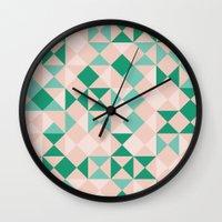 emerald Wall Clocks featuring Emerald  by Leandro Pita