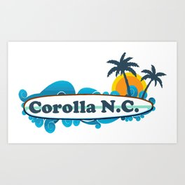 Corolla - North Carolina. Art Print