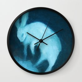 Ghost Bunny adrift Wall Clock