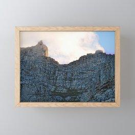 Table Mountain 7th wonder of the world Framed Mini Art Print