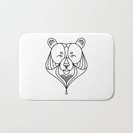 Black Bear One Bath Mat