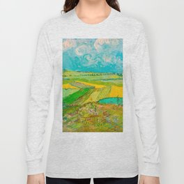 Wheat Fields after the Rain (The Plain of Auvers), July 1890 Oil Painting by Vincent van Gogh Long Sleeve T-shirt