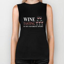 wine tasting wine t-shirts Biker Tank