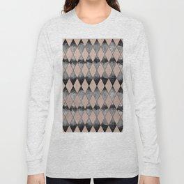 Geometric Diamond Glam #1 #geo #decor #art #society6 Long Sleeve T-shirt