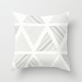 Triangle Hatching Pattern Throw Pillow