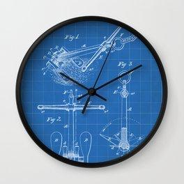 Ships Anchor Patent - Anchor Art - Blueprint Wall Clock