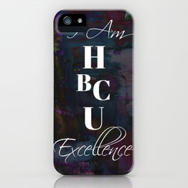 HBCU Excellence Purple iPhone Case