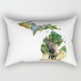 Michigan Elk Rectangular Pillow