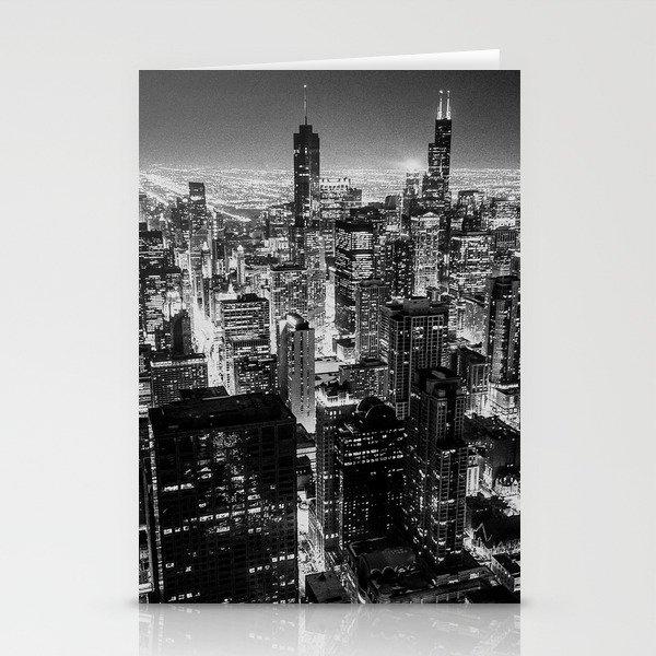 Nighttime Chicago Skyline Stationery Cards