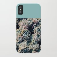 succulents iPhone & iPod Cases featuring Succulents by Leah Flores