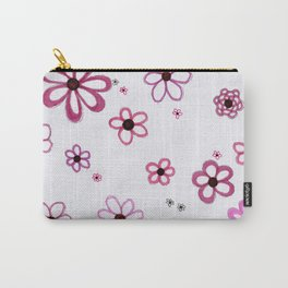 Pink Posies Carry-All Pouch