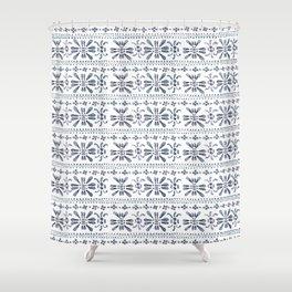 Indigo Pattern Shower Curtain