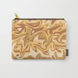 Marbled Apricot and Caramel Carry-All Pouch