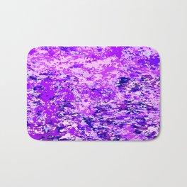 Purple Flames Background Bath Mat