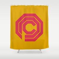 robocop Shower Curtains featuring Robocop by FilmsQuiz