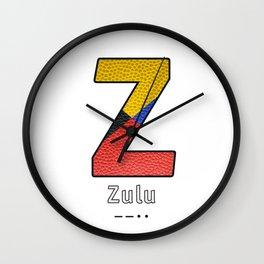 Zulu - Navy Code Wall Clock