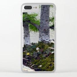 Shamrocks Clear iPhone Case