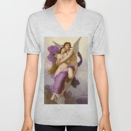 The Abduction of Psyche 1895 by Bouguereau Unisex V-Neck