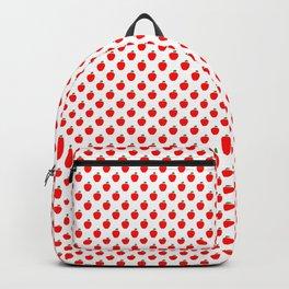 Red Apple Fruit Food Pattern Backpack