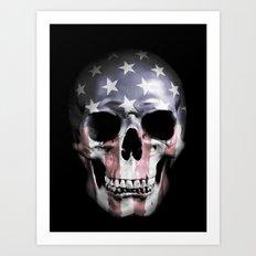 American Skull Art Print