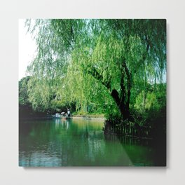 Yanagawa River, Japan Metal Print