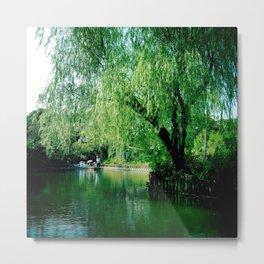 Yanagawa River, Japan Metal Print
