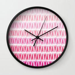 Tee Pee Pink Gradient Wall Clock
