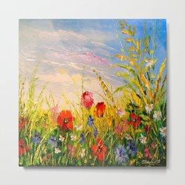 Field and flowers Metal Print