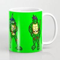 teenage mutant ninja turtles Mugs featuring Teenage Mutant Ninja Turtles by beetoons