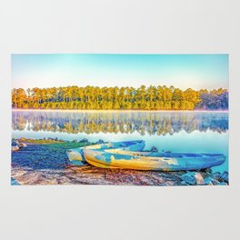 Canoes Lakeside Rug