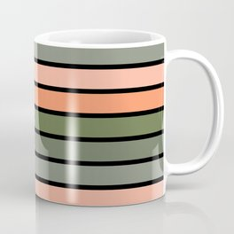 Multicolored Stripes: Pink & Green Coffee Mug