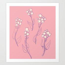 Violet flower Art Print