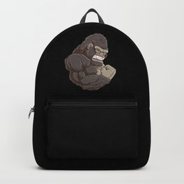 Gorilla At The Gym | Fitness Training Muscles Backpack