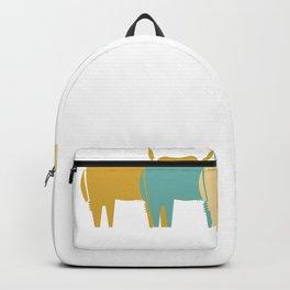 Highland Cattle Retro Vintage Design Backpack