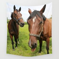 horses Wall Tapestries featuring horses by Falko Follert Art-FF77