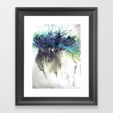 Skull Earth Framed Art Print