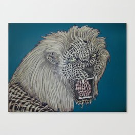 Weaved Lion Canvas Print